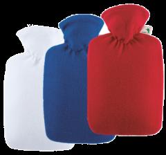 *New* Hugo Frosch Hot Water Bottle - Fleece Asstd Colours