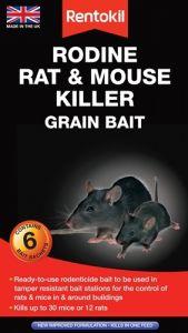 [6] RENTOKIL RODINE RAT & MOUSE KILLER GRAIN BAIT 6 SACHET