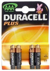 DURACELL BATTERIES AAA 4PK