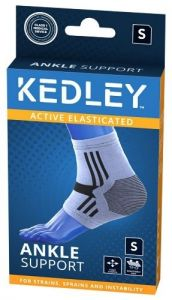 KEDLEY ELASTICATED ANKLE SUPPORT- SMALL