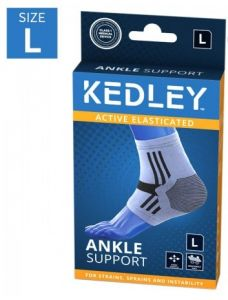 KEDLEY ELASTICATED ANKLE SUPPORT- LARGE