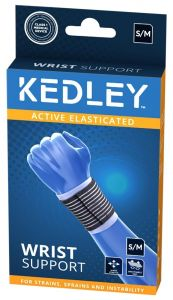 KEDLEY ELASTICATED WRIST SUPPORT- S/M