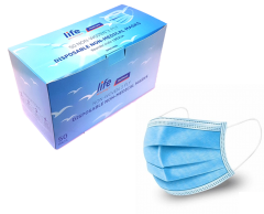 *NEW* LIFE Healthcare Face Masks, 3-ply Disposable, Box of 50