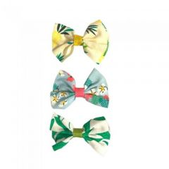 3PC TROPICAL PRINT BOW SET