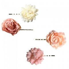[12] FLOWER HAIR GRIPS (D)