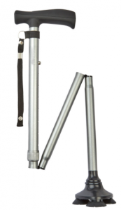 Charles Buyers Tribase Walking Stick, Silver *10% OFF!*