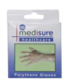 **SUG MS209 ETA AUG** [6] MEDISURE GLOVES POLYTHENE 25 PCS