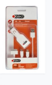 [3] OBJECT MOBILE 4 IN 1 CHARGER & 12V POWER CHARGER (D) *EX