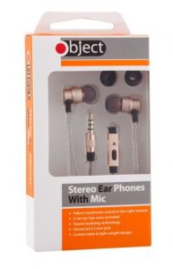 Object Mobile Phone Stereo Headphones With Mic