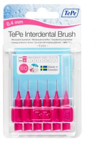 TEPE INTERDENTAL BRUSHES SIZE 0 - PINK-0.4MM