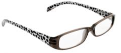 BETA VIEW READING GLASSES- BLACK & WHITE DOTS 2.50 (D)