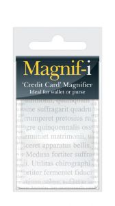MAGNIF-I CREDIT CARD' MAGNIFIER