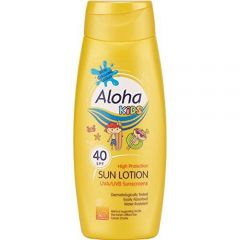 [6] ALOHA KIDS SUN LOTION SPF 40 WITH COLOUR 250ML (D) *EXTR