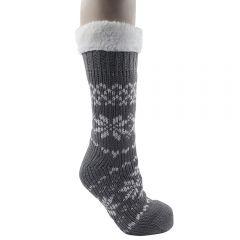 [12] LADIES FAIRISLE  SLIPPER SOCKS(D)