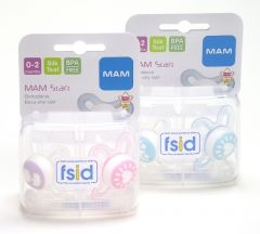 MAM TINY CLEAR 0-2M SOOTHERS