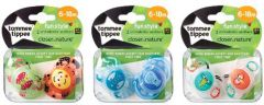 TOMMEE TIPPEE CTN FUN SOOTHERS 6-18M CLIPSTRIP X10 PCS