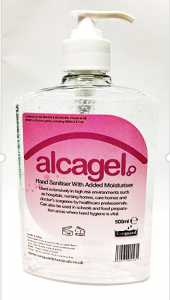 ALCAGEL 500ML HAND SANITISER PUMP