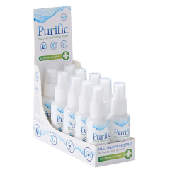 [10] PURIFIC ALCOHOL FREE SANITISER SPRAY 50ML IN CDU