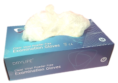 [1x100] VINYL GLOVES CLEAR POWDER FREE - LARGE