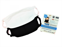 SILVADUR Reusable face mask, Black & White Asstd, washable up to 40 times!