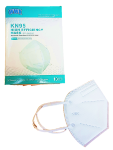 KN95 HIGH EFFICIENCY MASK, NON-MEDICAL, 10-PK