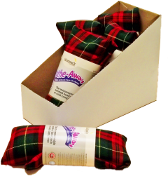 *USE L672B* [12] HEATPACK LAVENDER WHEAT WARMER TARTAN