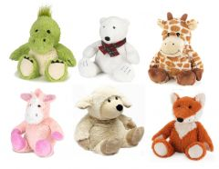 COZY PLUSH LAVENDER WHEAT WARMERS ANIMALS