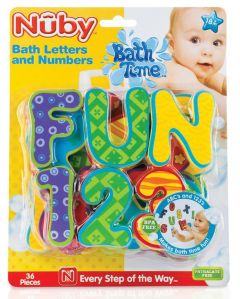 [4] NUBY BATH LETTERS & NUMBERS
