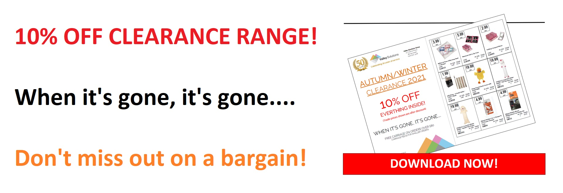 10% off Clearance Range