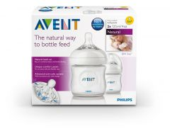 [4] AVENT NATURAL TWIN PACK BOTTLES 125 ML