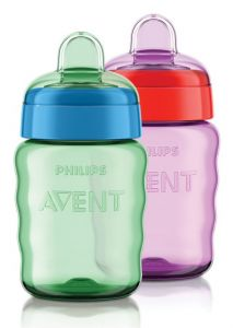 [4] AVENT EASYSIP SPOUT CUP 9OZ/260ML 9M+ MIXED