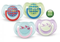 [3] AVENT SOOTHERS 6-18 MONTHS SILICONE FASHION (D)