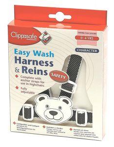 CLIPPASAFE HARNESS/REINS TEDDY