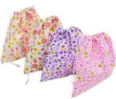 [12] DRAWSTRING BAG - LADIES FLORAL