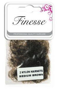 [6] FINESSE HAIRNETS MEDIUM BROWN