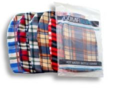 [6] FINESSE HOT WATER BOTTLE COVER - TARTAN FLEECE