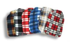 [6] FINESSE HOT WATER BOTTLE - TARTAN FLEECE COVERED