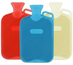 [12] FINESSE HOT WATER BOTTLE DOUBLE RIB WITH HANDLE