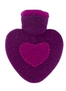 [6] HUGO FROSCH HEARTS COVER 1L HOT WATER BOTTLE