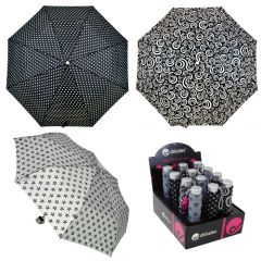 [12] DRIZZLES UMBRELLA BLACK & WHITE PRINTS