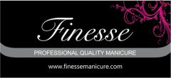 FINESSE MANICURE DISPLAY HEADER 450MMW X 150MMH