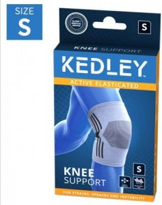 KEDLEY ELASTICATED KNEE SUPPORT- SMALL