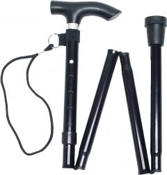 [3] LIFE HEALTHCARE WALKING STICK - BLACK 33-37 Inches