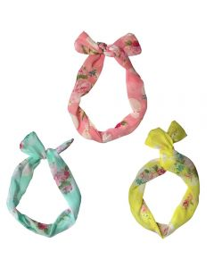 **DISCONTINUED** [12]  WIRE HEADWRAP ASST FLORAL