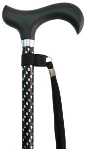 CHARLES BUYERS WALKING STICK ADJUSTABLE - ENGRAVED BLACK