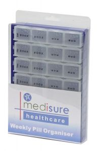 **SUGG MS253**MEDISURE PILL ORGANISER 28 COMP LARGE*ETA NOV*