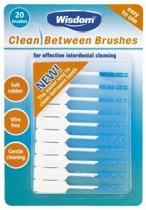 [12] WISDOM CLEAN BETWEEN BRUSHES (BLUE)