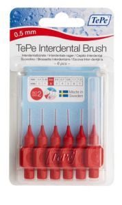 [10] TEPE INTERDENTAL BRUSHES SIZE 2 - RED 0.5MM