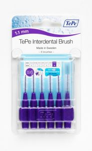 [10] TEPE INTERDENTAL BRUSHES SIZE 6 - PURPLE 1.1MM