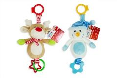 "[4] FIRST STEPS XMAS  6"" PLUSH TOYS WITH TEETHER(D)"